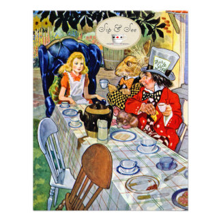 El sorbo de la fiesta del té del sombrerero enojad comunicados