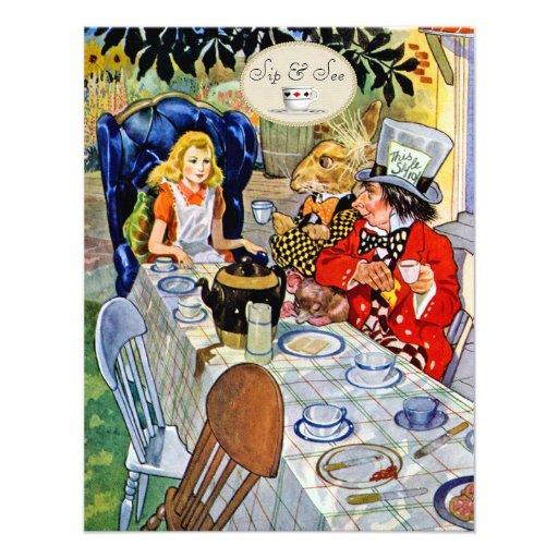 El sorbo de la fiesta del té del sombrerero comunicados