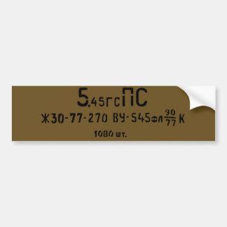 el Spam de la munición 5.45X39 puede etiqueta
