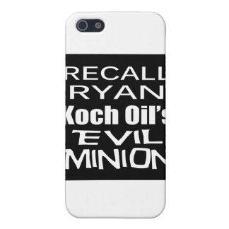 El subordinado malvado del aceite de Paul Ryan Koc iPhone 5 Cobertura