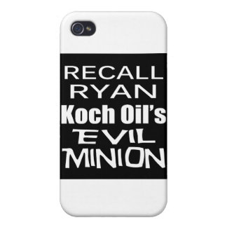 El subordinado malvado del aceite de Paul Ryan Koc iPhone 4 Coberturas