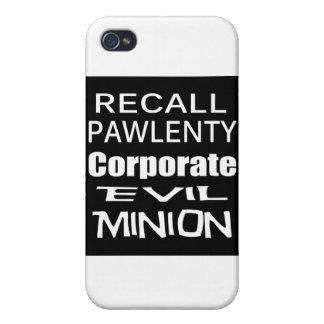 El subordinado malvado del aceite de Pawlenty Koch iPhone 4 Protector