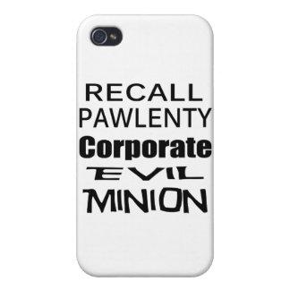 El subordinado malvado del aceite de Pawlenty Koch iPhone 4 Fundas