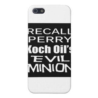 El subordinado malvado del aceite de Rick Perry Ko iPhone 5 Protectores