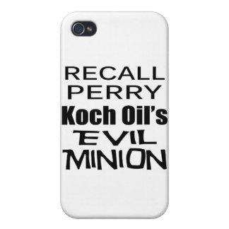 El subordinado malvado del aceite de Rick Perry Ko iPhone 4 Carcasa