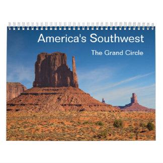 El sudoeste de América - el calendario magnífico