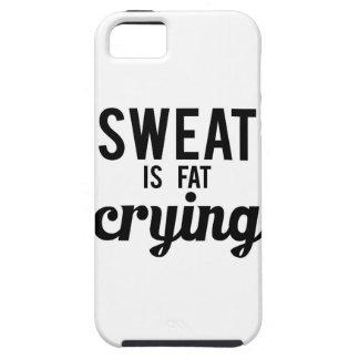 El sudor es griterío gordo funda para iPhone SE/5/5s