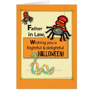 El suegro fastidia y silba Halloween Tarjeta De Felicitación