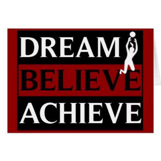 El sueño cree alcanza a señora Volleyball Tarjeta De Felicitación