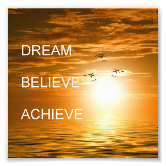 el sueño cree alcanza cita inspirada foto