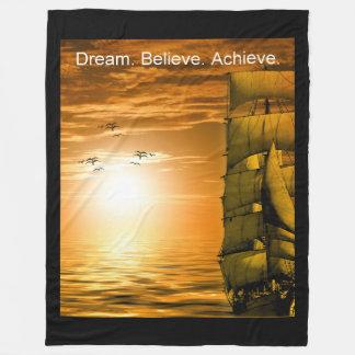 el sueño cree alcanza la inspiración de la manta polar
