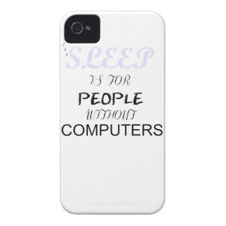 El sueño está para la gente sin los ordenadores - iPhone 4 Case-Mate cobertura