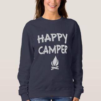 El suéter de las mujeres divertidas del campista