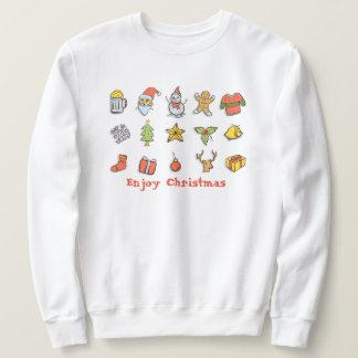El suéter feo del navidad con disfruta del texto