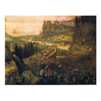 El suicidio de Saul de Pieter Bruegel la anciano Postal
