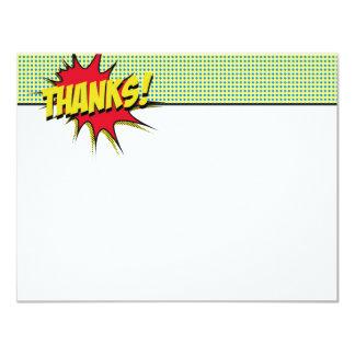 El super héroe le agradece los efectos de invitación 10,8 x 13,9 cm
