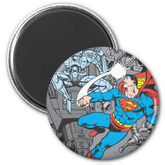 El superhombre lucha Brainiac Imán Redondo 5 Cm