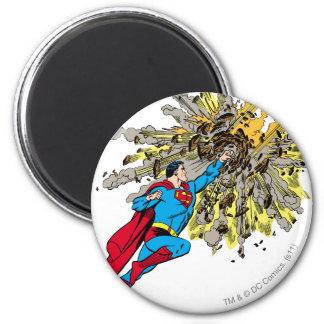 El superhombre para un meteorito imán redondo 5 cm