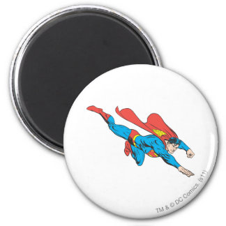 El superhombre se zambulle a la derecha imán redondo 5 cm