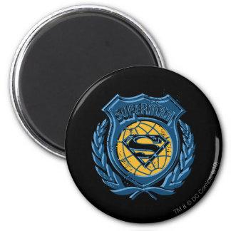 El superhombre Stylized el escudo del | con el Imán Redondo 5 Cm