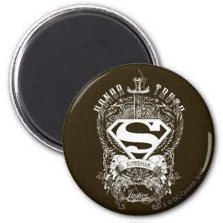 El superhombre Stylized el honor del |, la verdad Imán Redondo 5 Cm