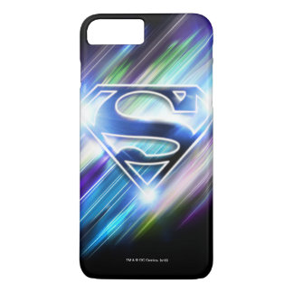 El superhombre Stylized el logotipo brillante de Funda iPhone 7 Plus