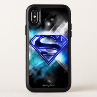 El superhombre Stylized el logotipo cristalino