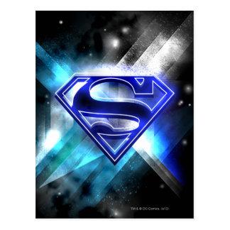 El superhombre Stylized el logotipo cristalino Postal