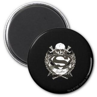 El superhombre Stylized el logotipo de la justicia Imán Redondo 5 Cm