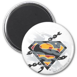 El superhombre Stylized el logotipo de las cadenas Imán Redondo 5 Cm
