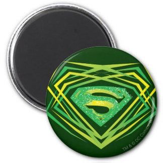El superhombre Stylized el logotipo decorativo Imán Redondo 5 Cm