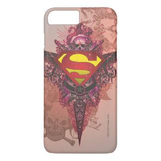 El superhombre Stylized el logotipo del diseño del Funda Para iPhone 8 Plus/7 Plus
