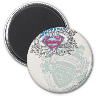 El superhombre Stylized el | logotipo del diseño Imán Redondo 5 Cm