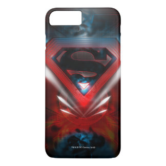 El superhombre Stylized el logotipo futurista del Funda Para iPhone 8 Plus/7 Plus