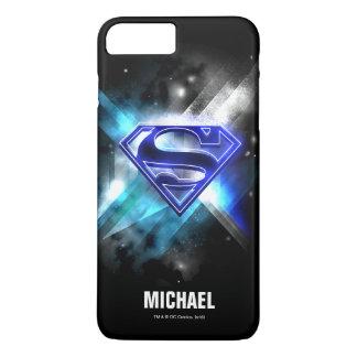 El superhombre Stylized nombre cristalino blanco Funda Para iPhone 8 Plus/7 Plus