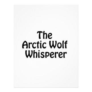 el susurro ártico del lobo folleto 21,6 x 28 cm