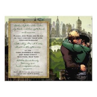 El suyo besa - la invitación gay del boda