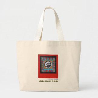 El suyo, maya y los nuestros bolsa tela grande