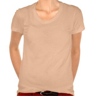 El T de las mujeres del logotipo del suplente del Camiseta