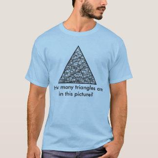 El T de los hombres - Cuenta del triángulo Camiseta