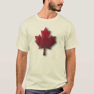 El T de los hombres rojos canadienses de la hoja Camiseta