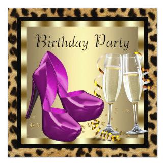 El tacón alto de los cócteles calza a la fiesta de invitación 13,3 cm x 13,3cm