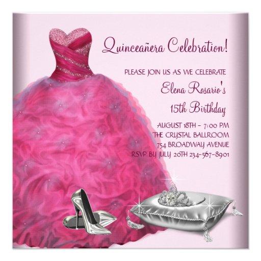 Pink Quinceanera Shoes High Heels