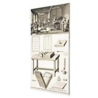 El taller y las herramientas de un marmolista de p impresión en lona