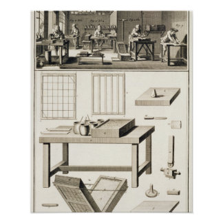 El taller y las herramientas de un marmolista de p póster