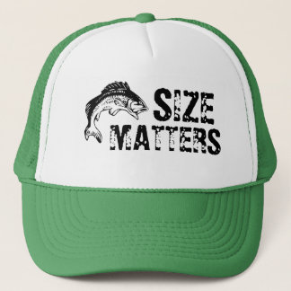 El tamaño importa gorra de la pesca de la lubina