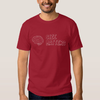 El tamaño importa insinuacíon académica camiseta