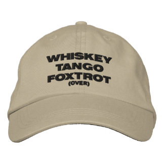 El tango del whisky Foxtrot (encima) Gorra Bordada