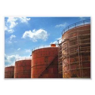 el tanque de aceite fotografías