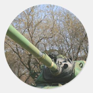 El tanque de ejército pegatina redonda